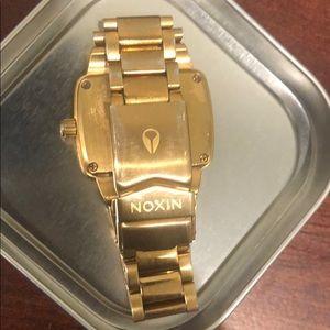 Nixon Jewelry - Used Nixon Gold/Diamond Small Player Watch